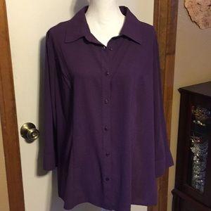 Purple button down shirt, 22W